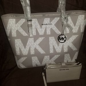 NWT Michael Kors Carryall and matching wallet